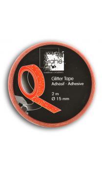 Glitter Tape 2m - Naranja Fluo