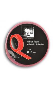 Glitter Tape 2m - Rosa Fluo