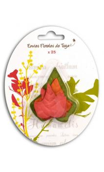 Conjunto de 25 hojas decorativas arce