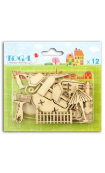 Conjunto de12 formas de madera Home Sweet Home