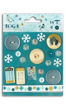 Set adornos Juegos de Invierno