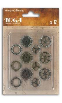 Conjunto de 12 engranajes de metal