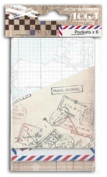 Conjunto de 2x3 Bolsitas papel Viajes