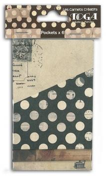 Conjunto de 2x3 Bolsitas papel Vintage