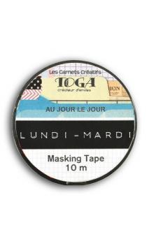 Masking tape 1,5cmx10m Au Jour le Jour(Día a Día)