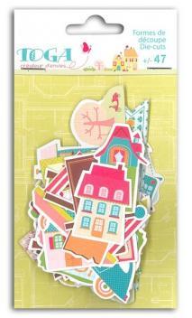 Conjunto de 47 Formas papel troqueladas Home Sweet Home