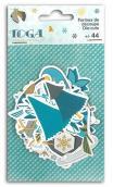 Conjunto de 44 Formas papel troqueladas Jeux d'Hiver