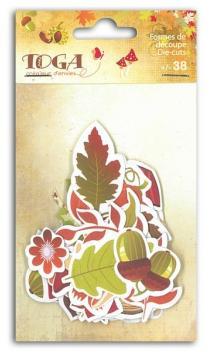 Surtido de 38 Formas papel troqueladas Colors d'Otoño
