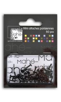 50 mini encuadernadores  - Negro