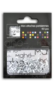 50 mini encuadernadores - Blanco