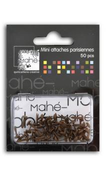 50 mini encuadernadores - Chocolat