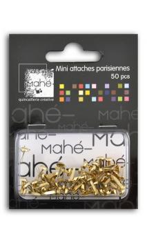 50 mini encuadernadores - Oro