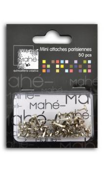 50 mini encuadernadores - Plata