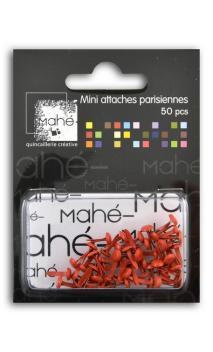 50 mini encuadernadores - Rojo
