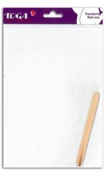 Rub-ons Alfabeto Blanco Praga - 1 hoja 15x21