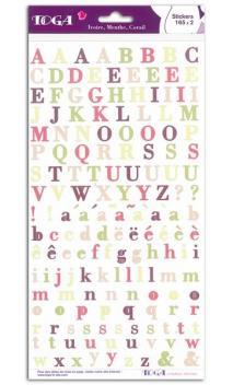 2 pl. stickers Alfabeto Marfil Coral