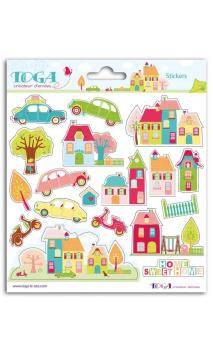 2 pl. stickers 15x15 Home Sweet Home