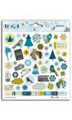 2 pl. stickers 15x15 Juegos de invierno