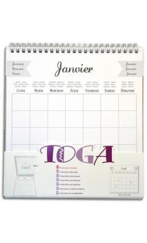 calendario 20x20cm para decorar