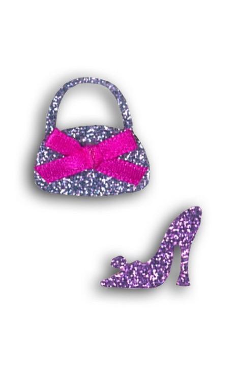 Emblema Termoad Bolso/zapatos purpurina