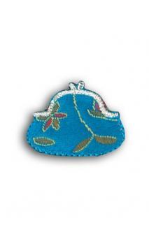 Emblema Termoad Monedero azul plateado