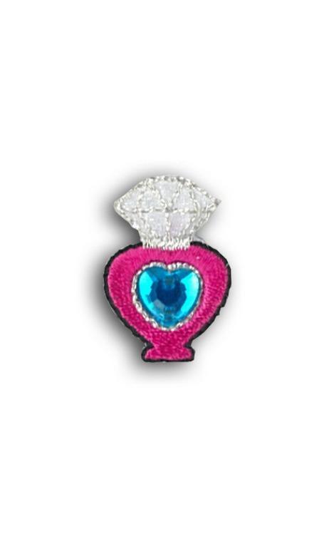 Emblema Termoad Frasco azul rosa