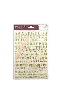 Transferibles Alfabeto verde - 1 pl