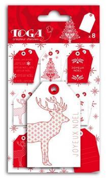 """Etiquetas""""Navidad Escandinava"""""""