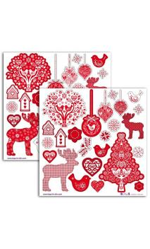 """Stickers""""Navidad Escandinava"""""""