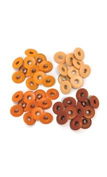 Wide Eyelets - Aluminum Red