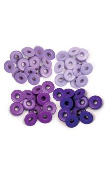 Wide Eyelets - Aluminum Purple