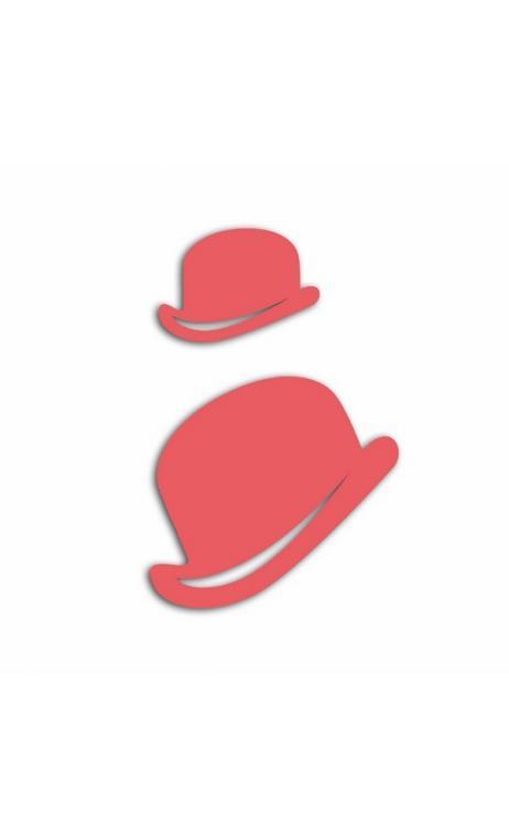 Troqueles chapeaux melon-2 tailles