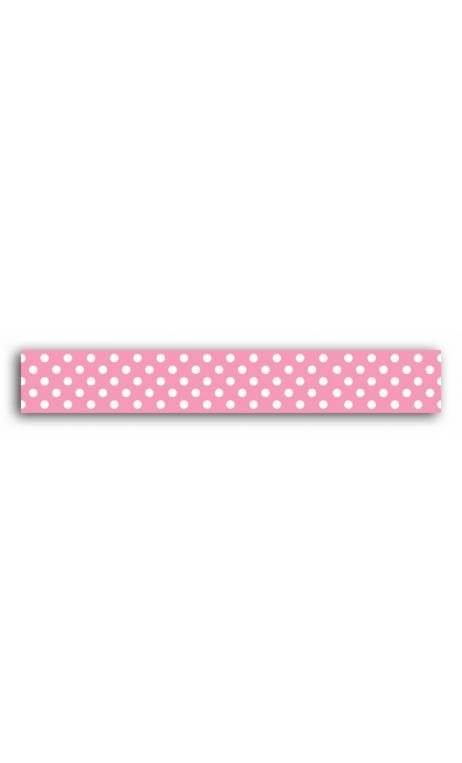 Masking tape rosa pois blanc - 10 m