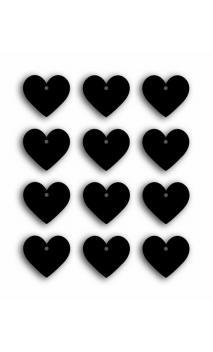 Etiquetas pizarra-pequeños corazones