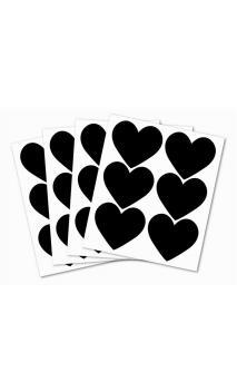 Stickers pizarra-pequeños corazones