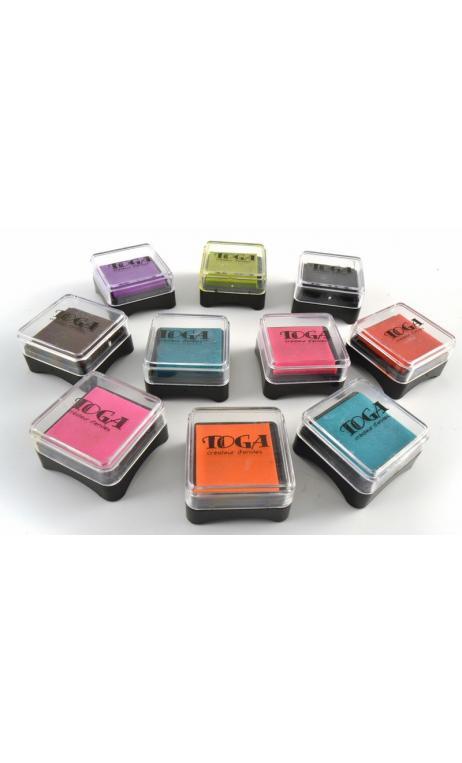 Surtido de de 10 entintadores de colores variados