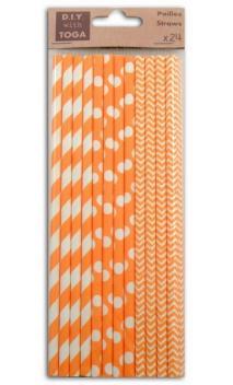 Surtido 24 Pajas - naranja